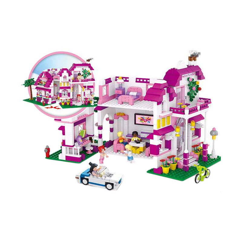 Sluban New Girl's Seaside Villa M38-B0536 Mainan Anak [723 Pcs of Brick]