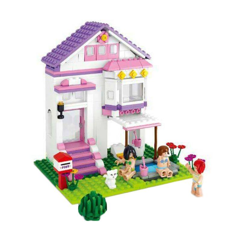 Sluban New Girl's Villa with Pool M38-B0532 Mainan Anak [291 Pcs of Brick]