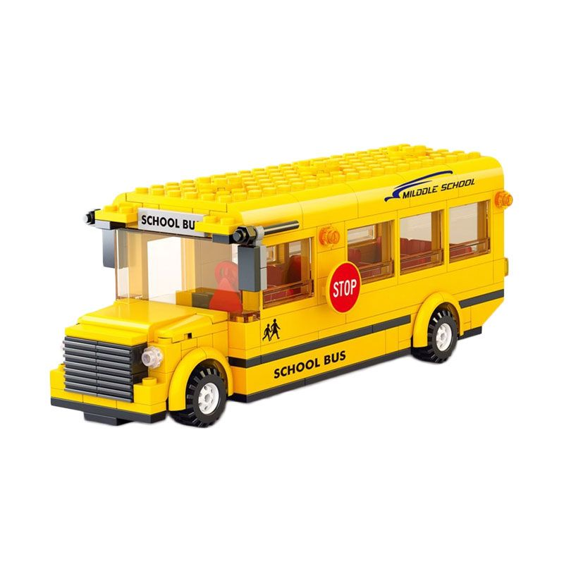 Sluban School Bus M38-B0333 Mainan Anak [487 Pcs]