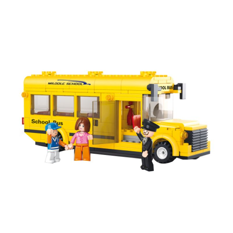 Sluban Small School Bus M38-B0507 Mainan Anak [218 Pcs of Brick]