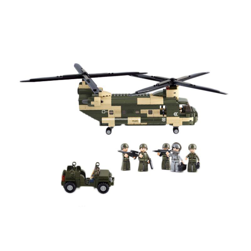 Sluban Transport Helicopter M38-B0508 Mainan Anak [520 Pcs of Brick]