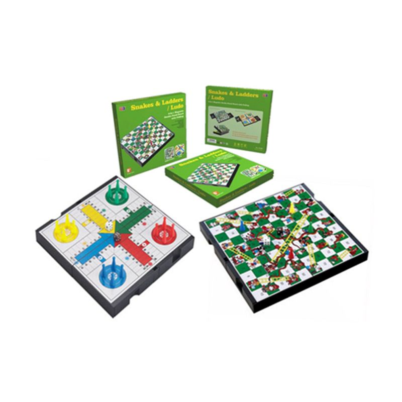 UB 2 IN 1 Magnetic Folding Snakes Ladders And Ludo 3748C Mainan Anak