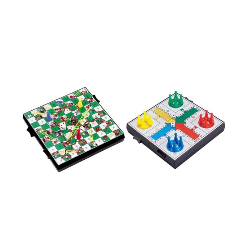 UB 2 In 1 Snake And Ladder Ludo Game 2734C Mainan Anak