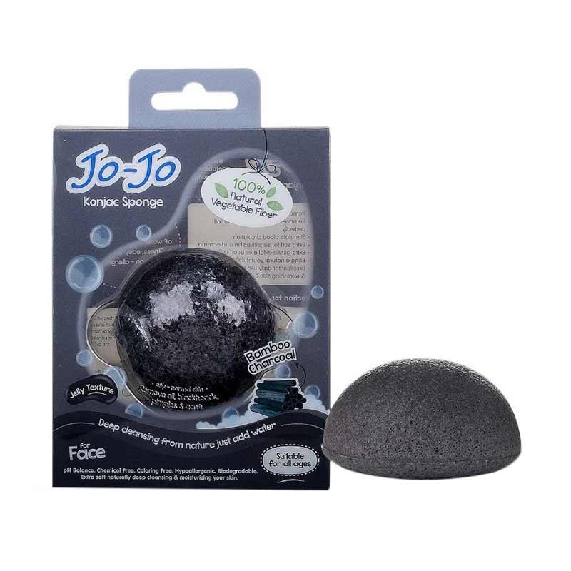 Jojo Konjac Bamboo Charcoal (Half Ball) Sponge