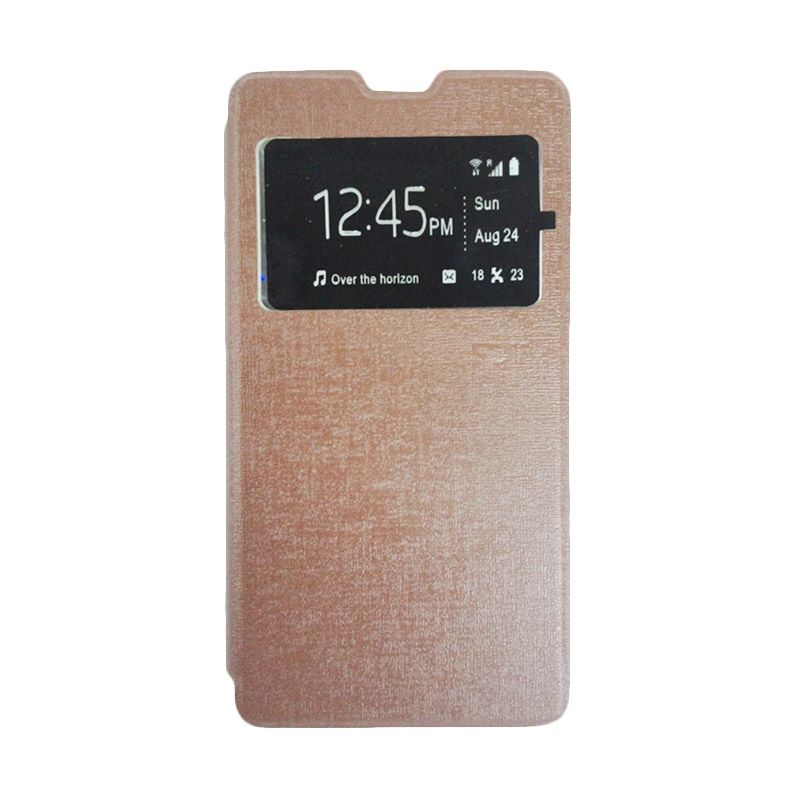 Ume Cokelat Leather Casing for for Xiaomi Redmi Note