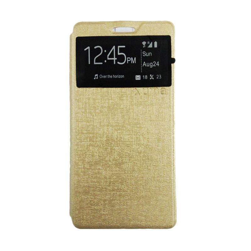 Universal Gold Leather Casing for Lenovo A6000