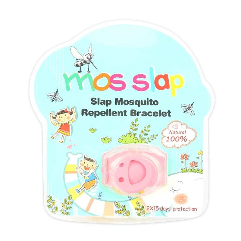 Mosquito Repellent Bracelet Smiley - Pink