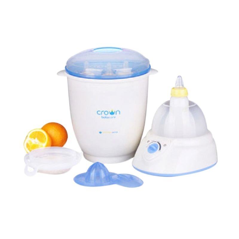 Crown Digital Steamer 6 in 1 CR888 Multifunction Putih Sterilizer Botol Susu