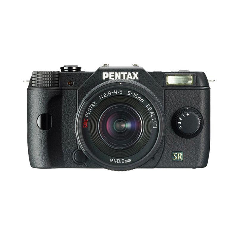 Pentax Q7 Kit with 5-15mm f/2.8-4.5 Zoom Hitam Kamera Mirroless