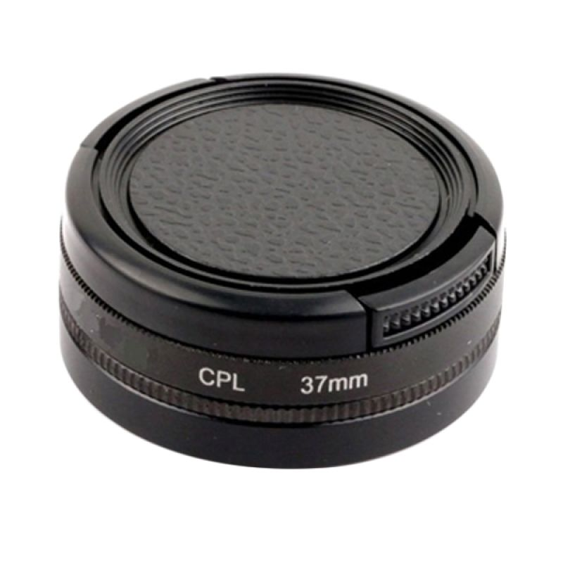 Third Party CPL 37mm Filter for GoPro + Filter Adapter + Lenscover