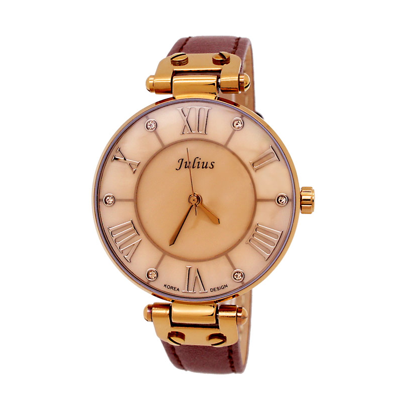Julius JA-832-E Jam Tangan Wanita - Brown