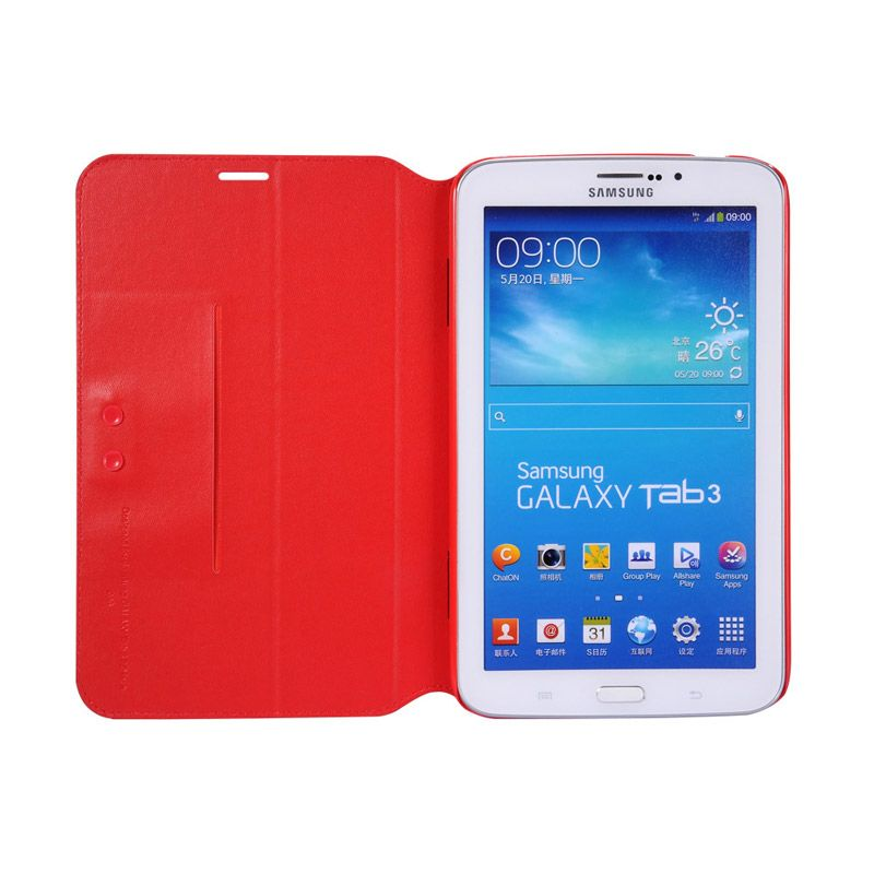 Capdase Red Flip Jacket Casing for Galaxy Tab 3