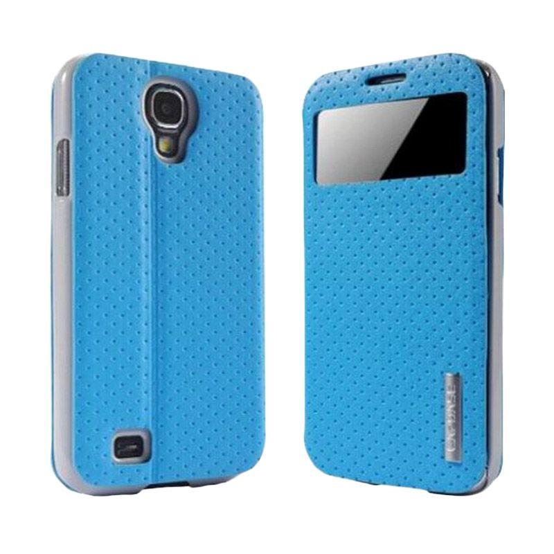 Capdase Sider Id Polka Blue Casing for Samsung Galaxy S4