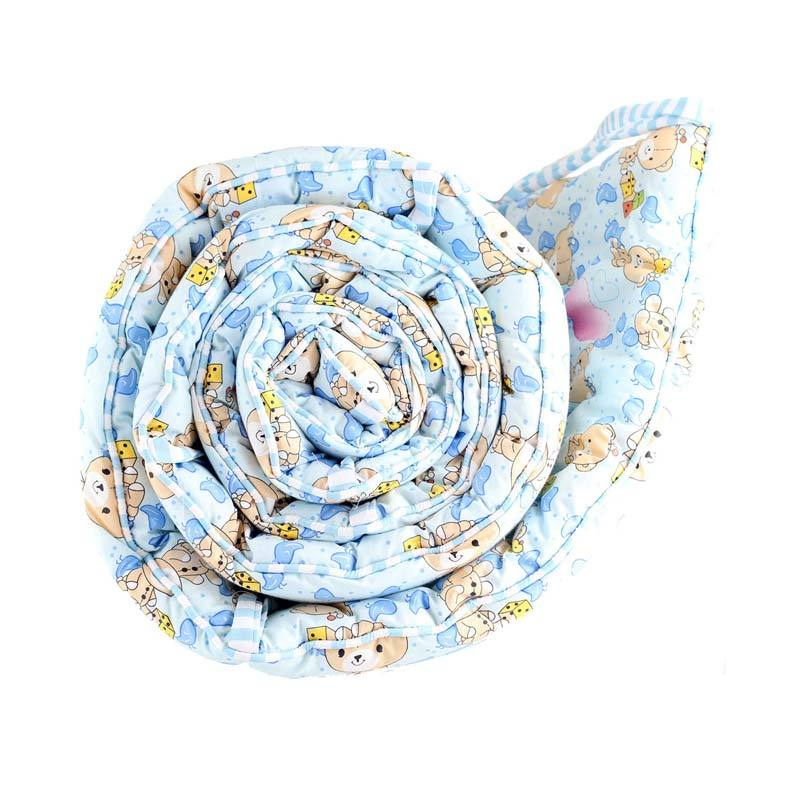 Eolins Little Bear JSBU014 Blue Baby Crib Bumper