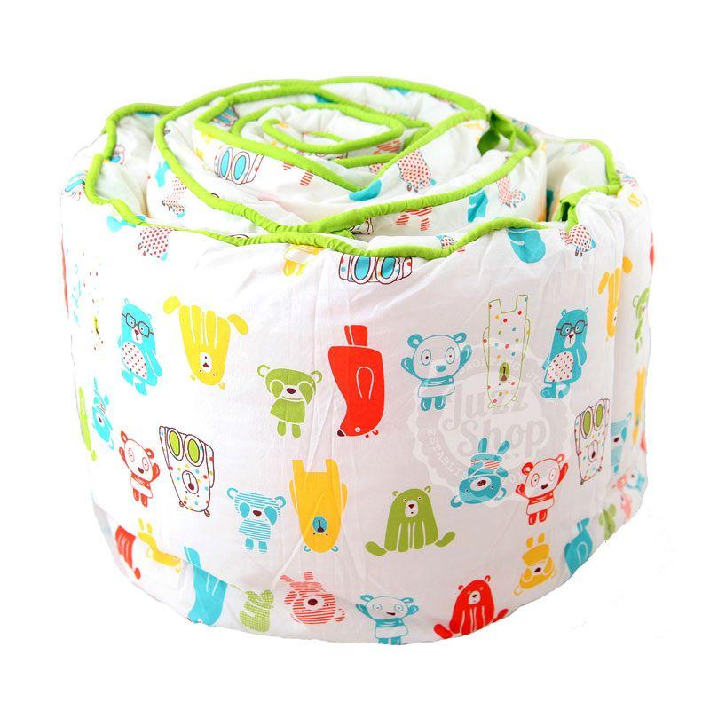 Eolins Little Robot JSBU011 Green Baby Crib Bumper