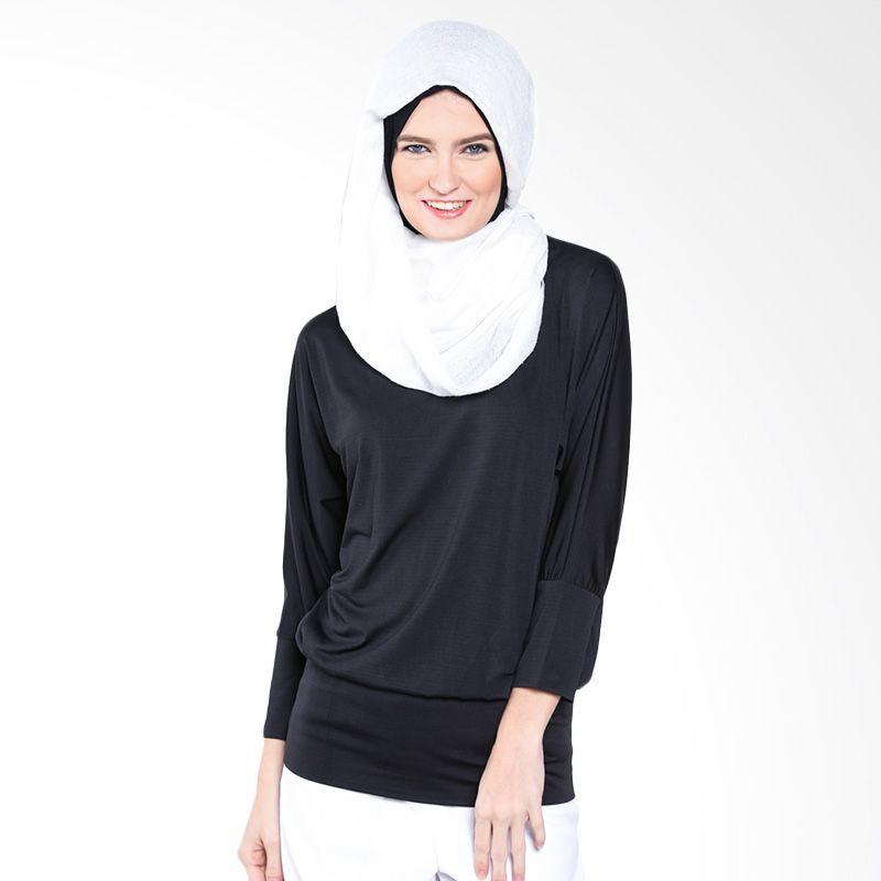 JV Hasanah Adriana Black Atasan Muslim Wanita