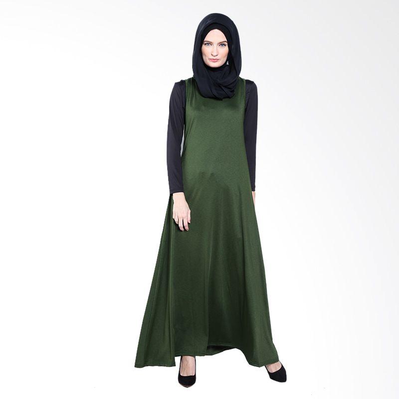 JV Hasanah Emilie Maxi Sleveless Green Dress