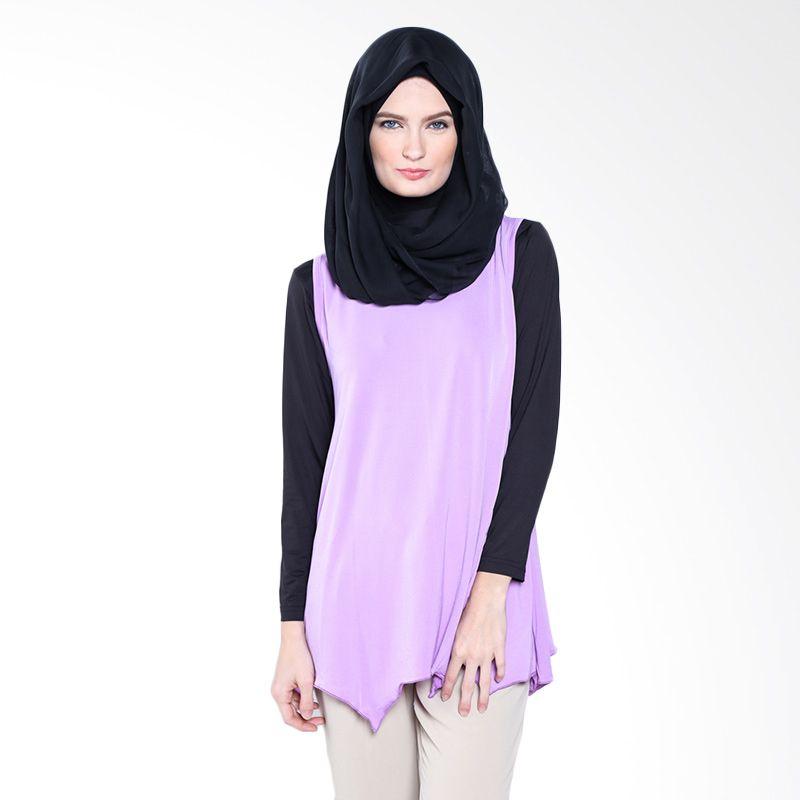 JV Hasanah Sabrina Tunics Purple Atasan Muslim Wanita