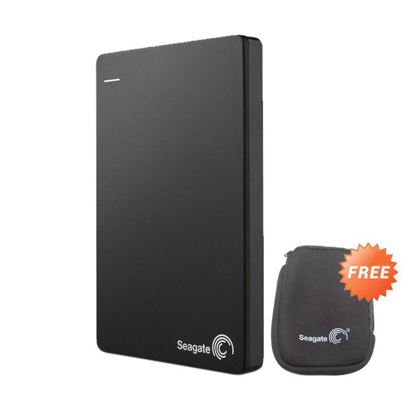 Seagate Backup Plus Slim Black Hard dish External [500 GB] + Softcase