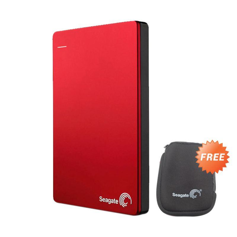 Seagate Backup Plus Slim 1TB Red 2.5inc Free Softcase