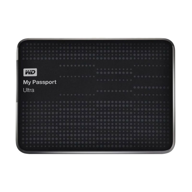 WD Passport Ultra Black Hard Disk Eksternal [1 TB/2.5inc/USB 3.0]
