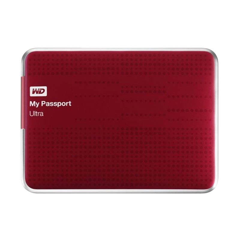 WD My Passport Ultra Red Hard Disk Eksternal [2 TB]