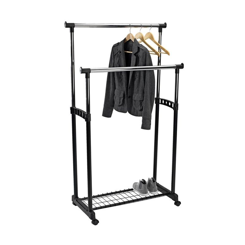 JYSK Clothes Rail Baxter Double Shelf Black Rak Gantungan Baju