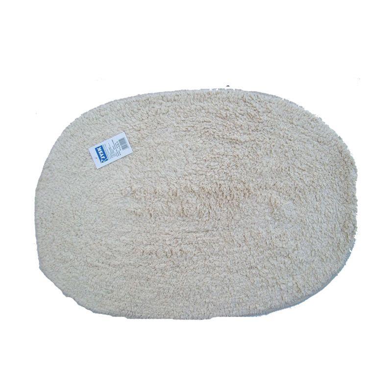 JYSK Cotton Solid Bathmats Col.Natural Purple Keset