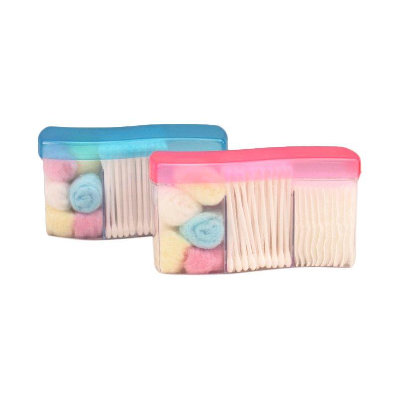 JYSK Cotton Wool Tips Pads Travel Pack Set Paket Perawatan