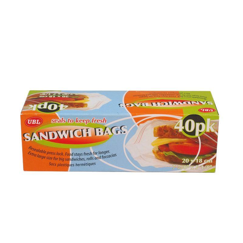 JYSK LGE ZIP PK40 Sandwich Bags Tempat Penyimpan Makanan
