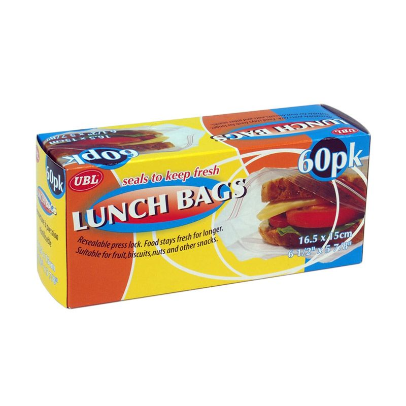 JYSK Lunch Bags Seal Lock Kantong Plastik [60 Pack]