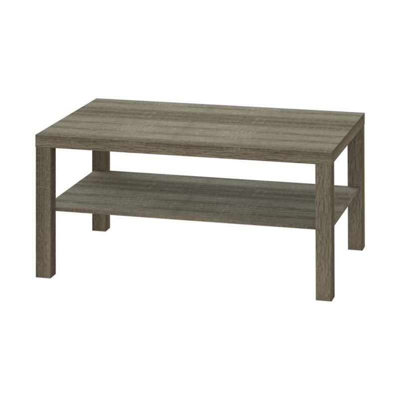 JYSK Meja Koge Coffee Table With Shelf PVC Sonoma Brown Meja