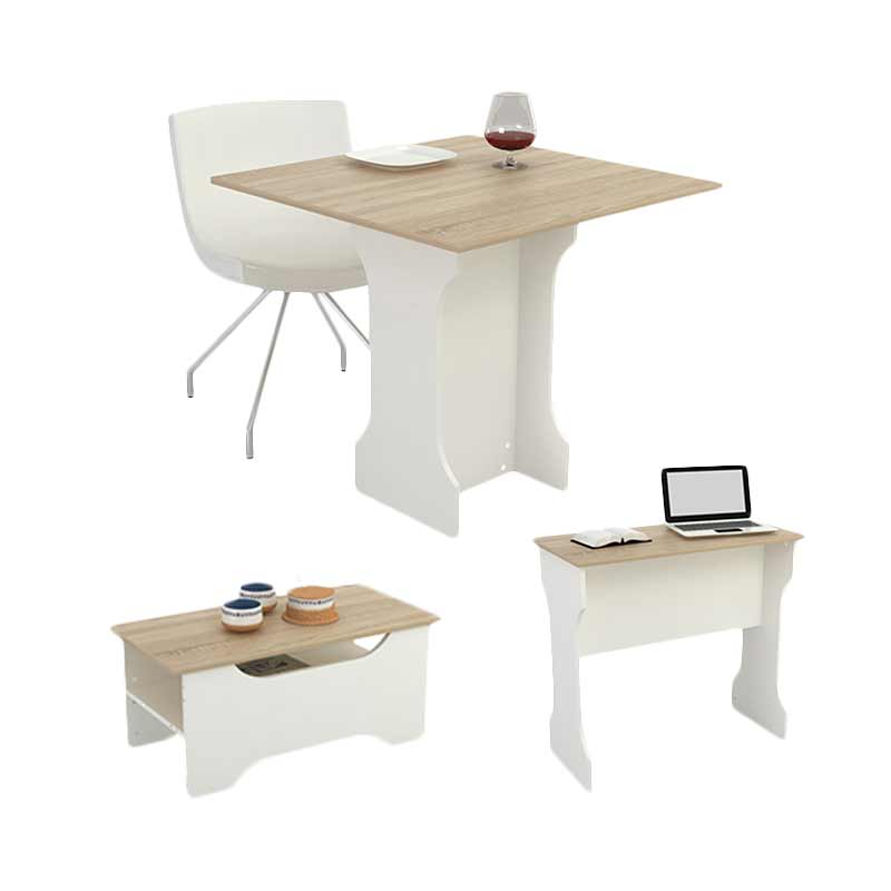 JYSK 3 In 1 Orchad Table - Oak White [80x79x75 cm]
