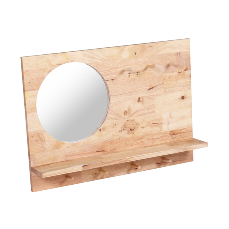 Mirror 50 x 70 wilson a wood wall mirror in oak 50 x for Miroir 50x50