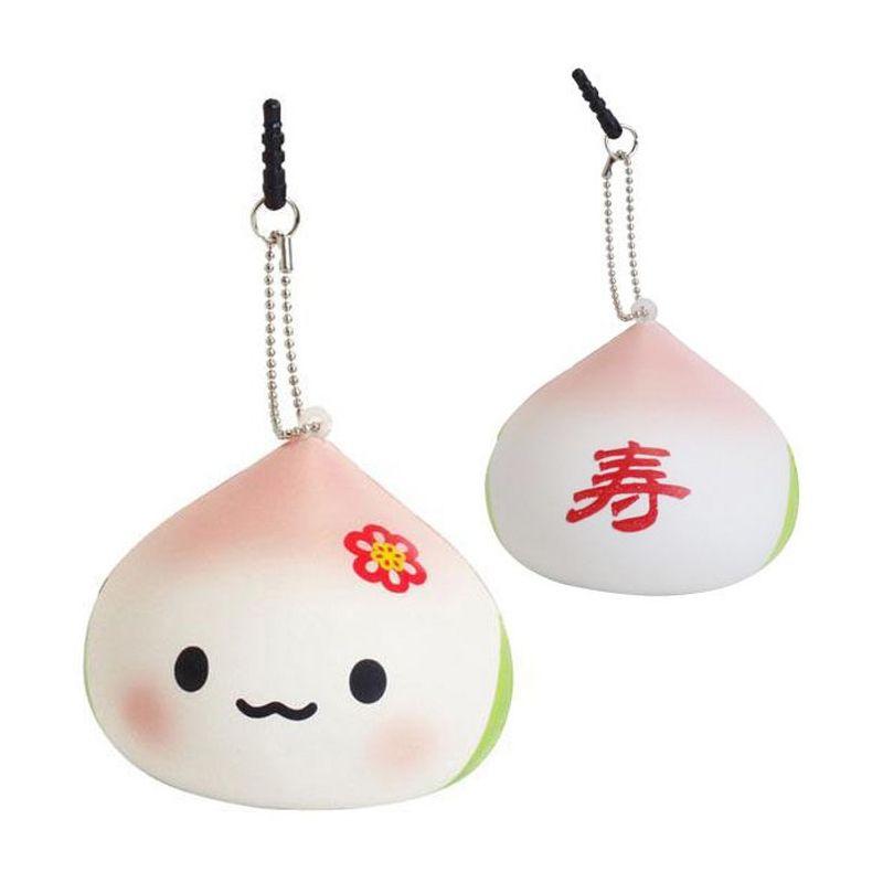 Kadounik Japanese Kawaii Squishy Mascot Ball Chain Juju Chan Earphone Jack Plug