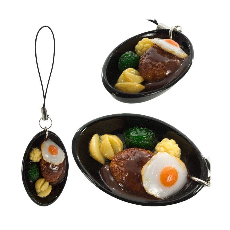 Kadounik Japanese Food Sample Collection Hamburger Steak Gantungan Handphone
