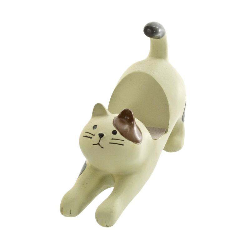 Kadounik Adorable Cat Behaviors Cat Stretch Calico Smartphone Stand