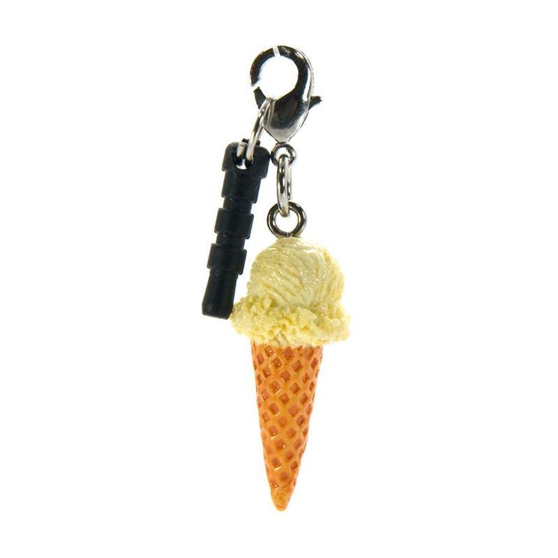 harga Kadounik Charm Apli Sweets Ice Cream Cone Vanilla Earphone Jack Plug Blibli.com