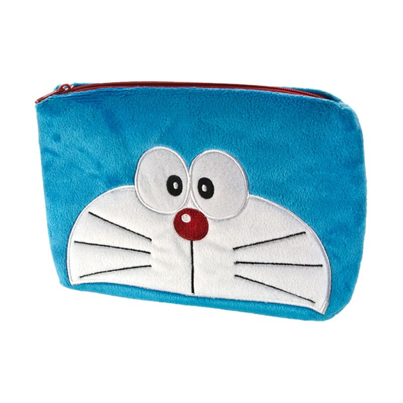 Kadounik Doraemon Face Pouch with Zipper