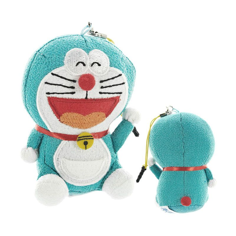 KadoUnik Doraemon Plush Doll Mascot Smile Smartphone Cleaner