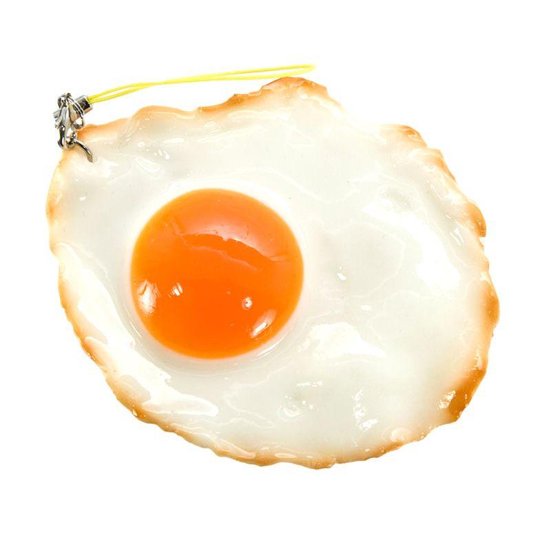 KadoUnik Fried Eggs Baked In White Phone Strap