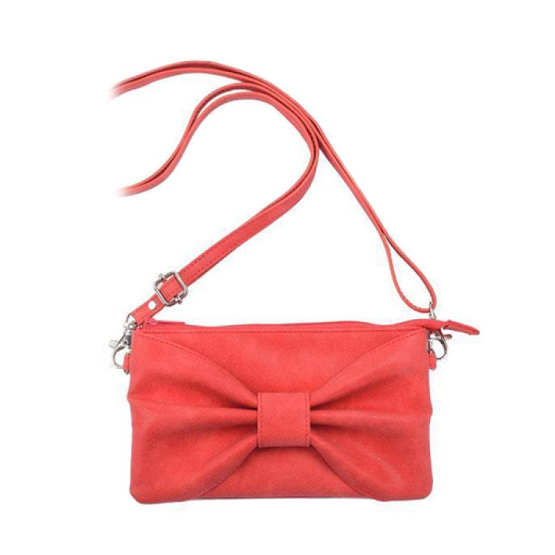 Kadounik Hamee Original Bow Type Shoulder Red Pouch for Smartphone