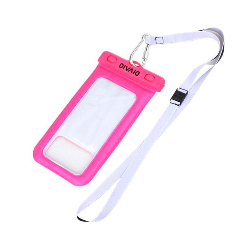 Kadounik Hamee Original DIVAID Floating Pink Waterproof Pouch for Smartphone