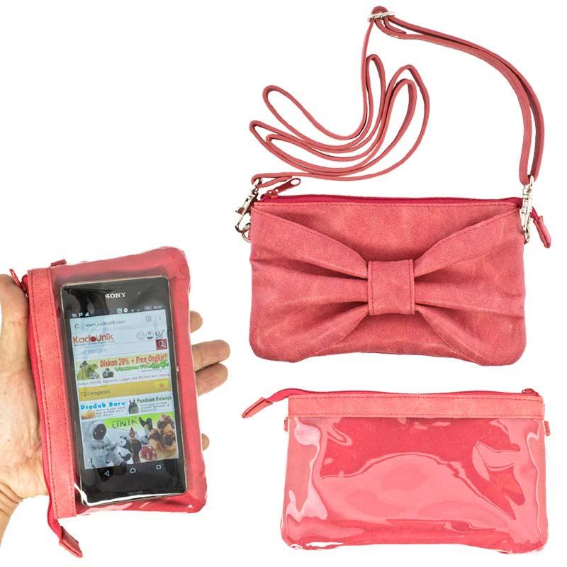 Kadounik Hamee Tas Selempang for Smartphone - Merah