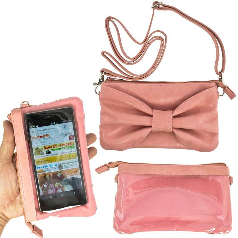 Kadounik Hamee Tas Selempang for Smartphone - Pink