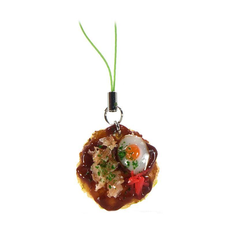 Kadounik Japanese Food Sample Collection Okonomiyaki Gantungan Handphone