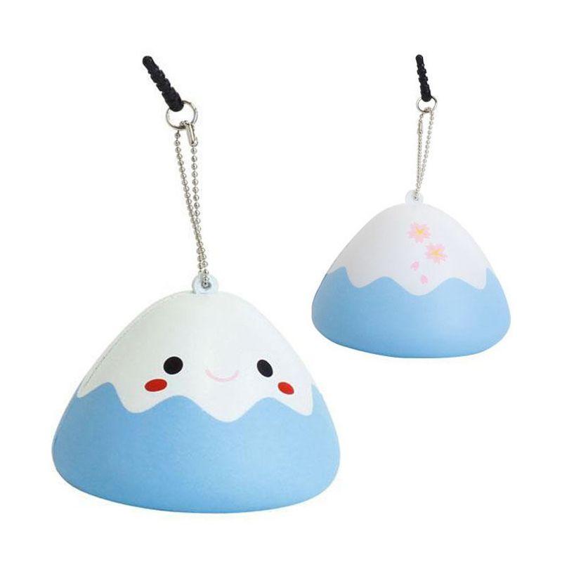 Kadounik Japanese Kawaii Squishy Mascot Ball Chain Fujipon Blue Earphone Jack Plug