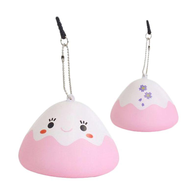 Kadounik Japanese Kawaii Character Squishy Mascot Ball Chain Fujipon Pink Earphone Plug