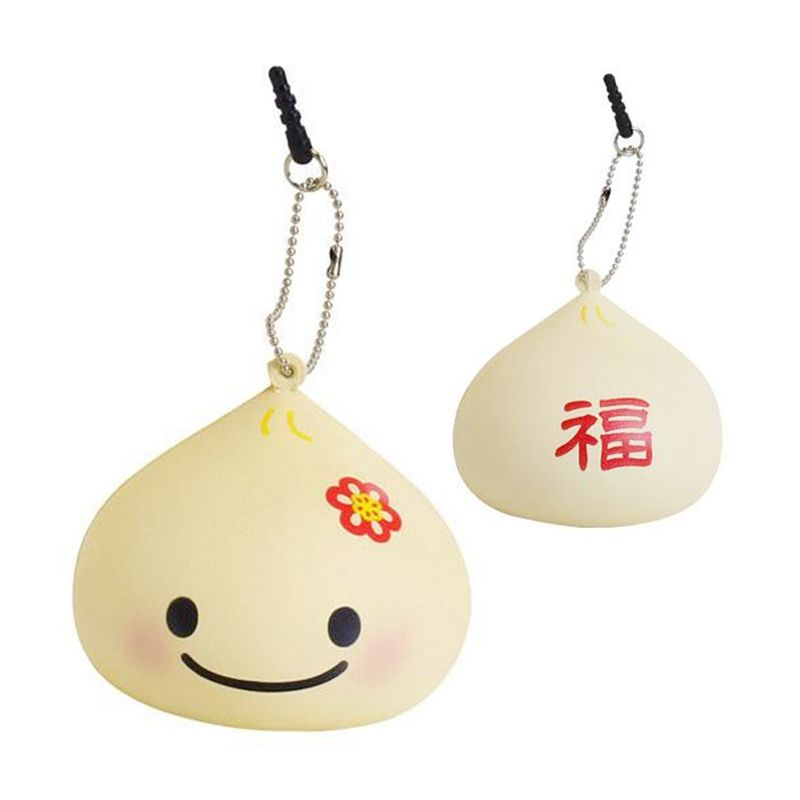 Kadounik Japanese Kawaii Squishy Mascot Ball Chain Manpuku Kun Earphone Jack Plug