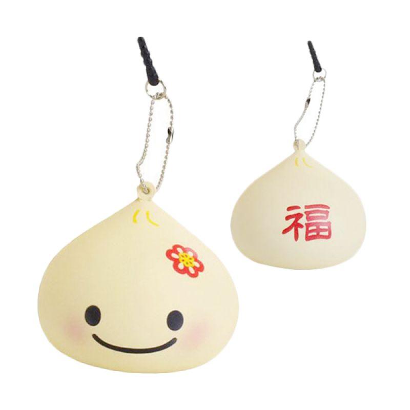 KadoUnik Japanese Kawaii Squishy Mascot Manpuku Kun Earphone Plug Gantungan Kunci